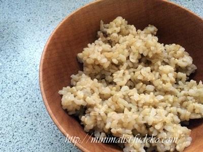 玄米炊きあがり