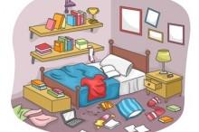 散らかった部屋