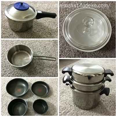私の鍋とフライパン