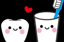 歯とコップ