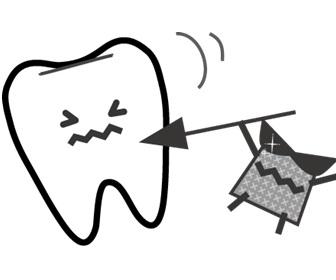 バイキンにやられる歯