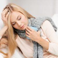 インフルエンザにかかった女性