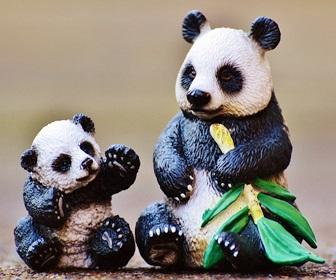パンダのフィギア