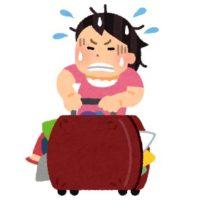 重いスーツケース