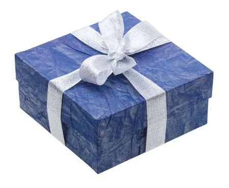 贈り物の青い箱