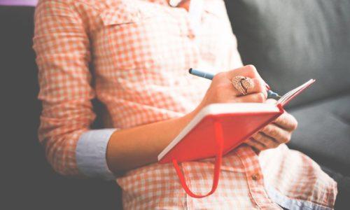日記をつけている人