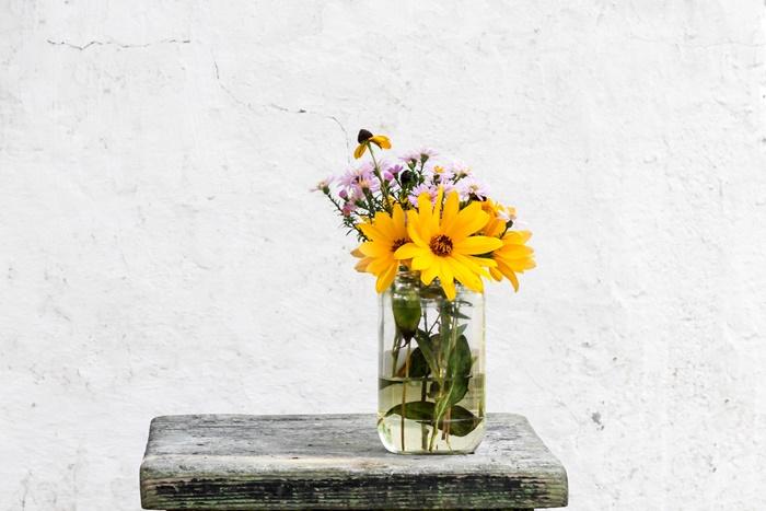 シンプルにいけた花