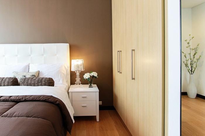 片付いた寝室
