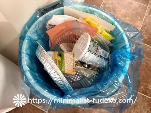 我が家のリサイクル用ごみ