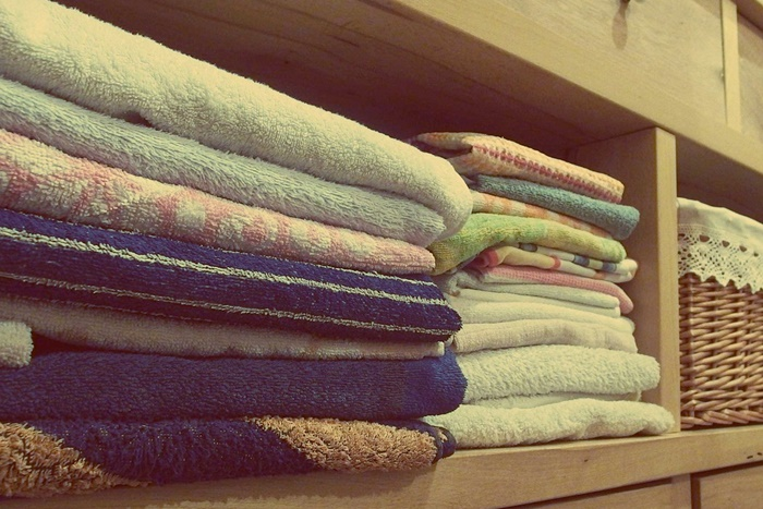 タオルを置いた棚