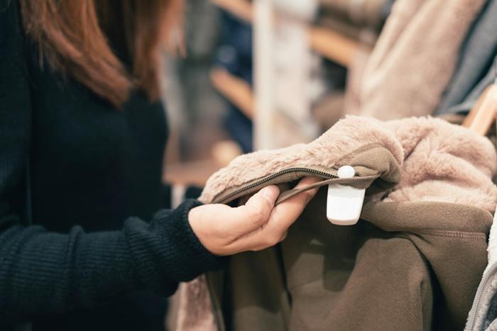 ジャケットの買い物中