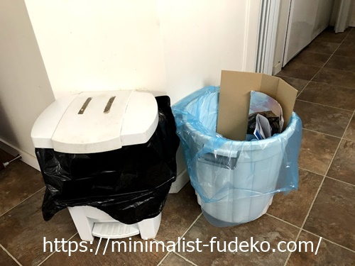 キッチンにあるゴミ箱