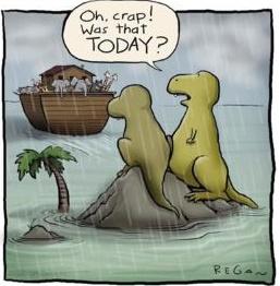 船に乗り遅れた恐竜の漫画