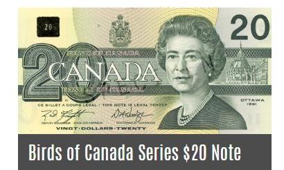 バーズオブカナダシリーズの20ドル札