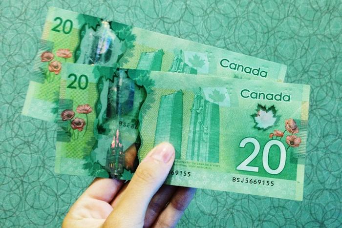 カナダの20ドル札