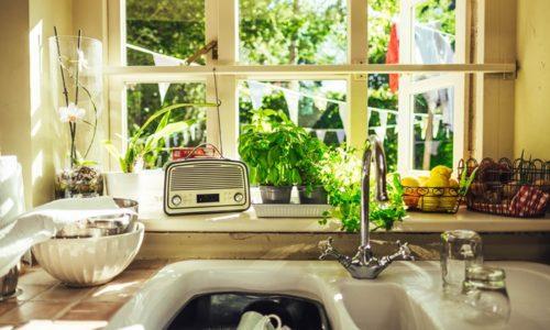 シンクの洗い物