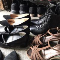 靴が多い玄関