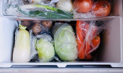 冷蔵庫の中の野菜