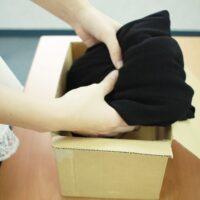 衣類の梱包