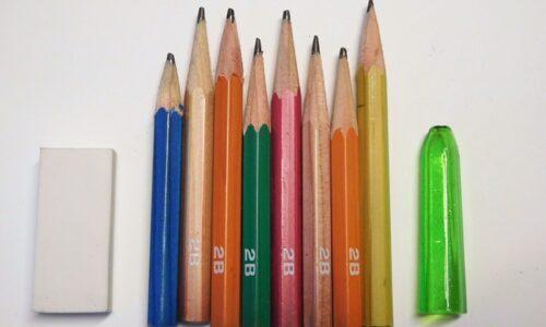 短くなった鉛筆