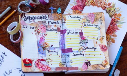 9月のスケジュール帳